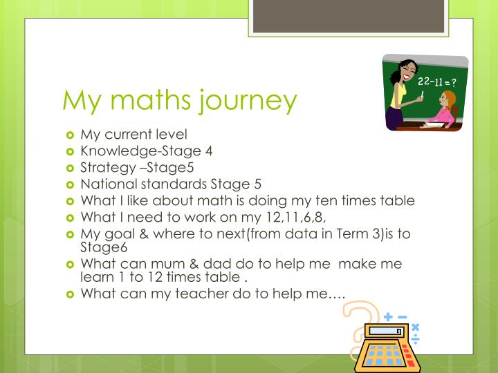 My maths journey