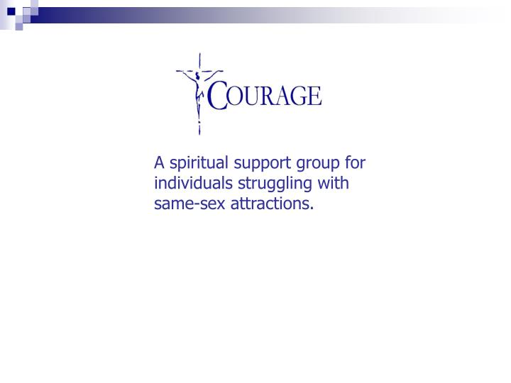 A spiritual support group for individuals struggling with same-sex attractions.