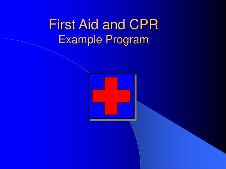 First aid and cpr example program