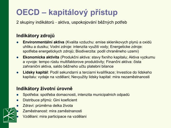 OECD – kapitálový přístup