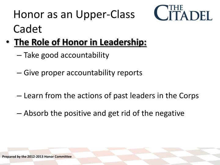 The Role of Honor in Leadership:
