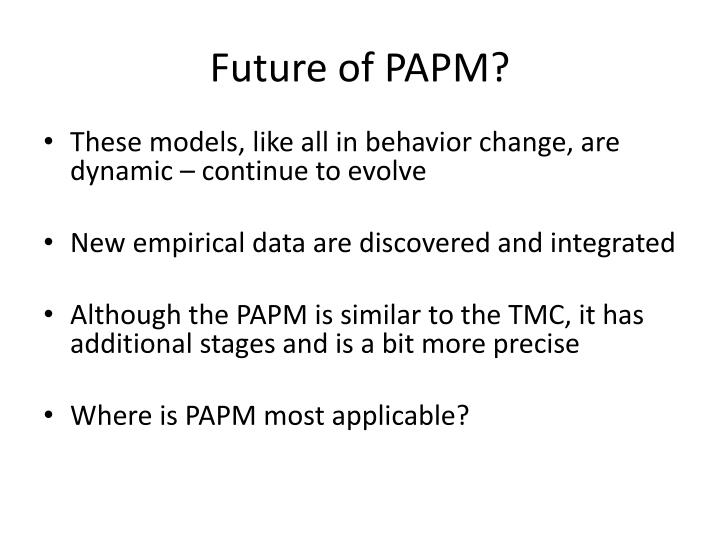 Future of PAPM?