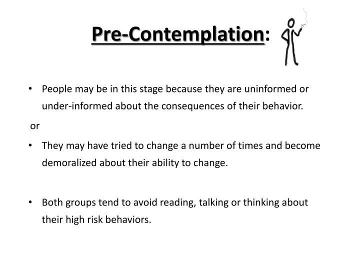 Pre-Contemplation