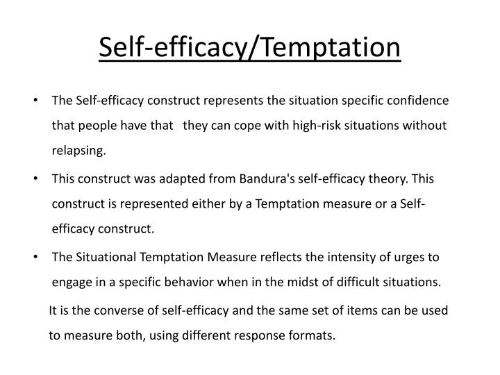 Self-efficacy/Temptation