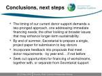 conclusions next steps