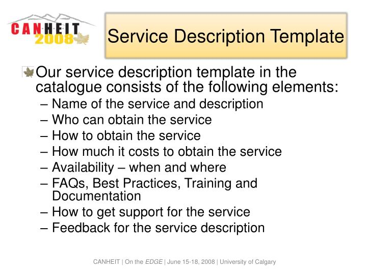 Service Description Template