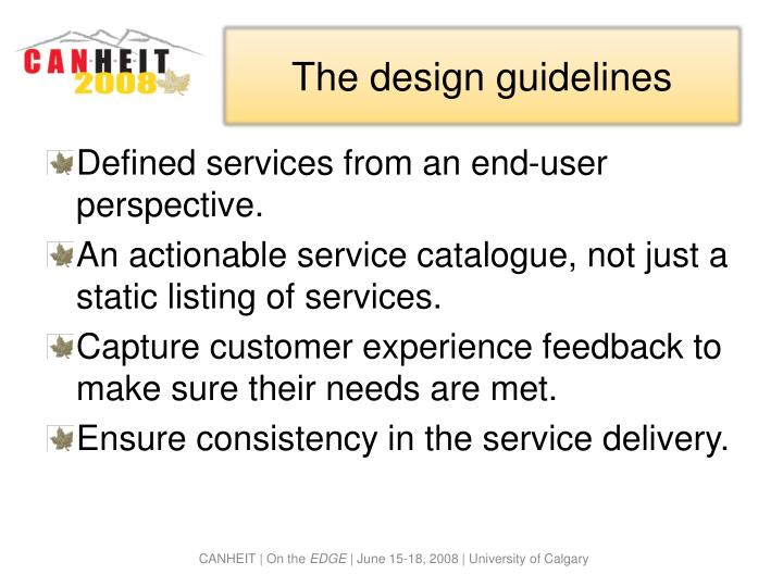 The design guidelines