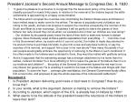 president jackson s second annual message to congress dec 6 1830