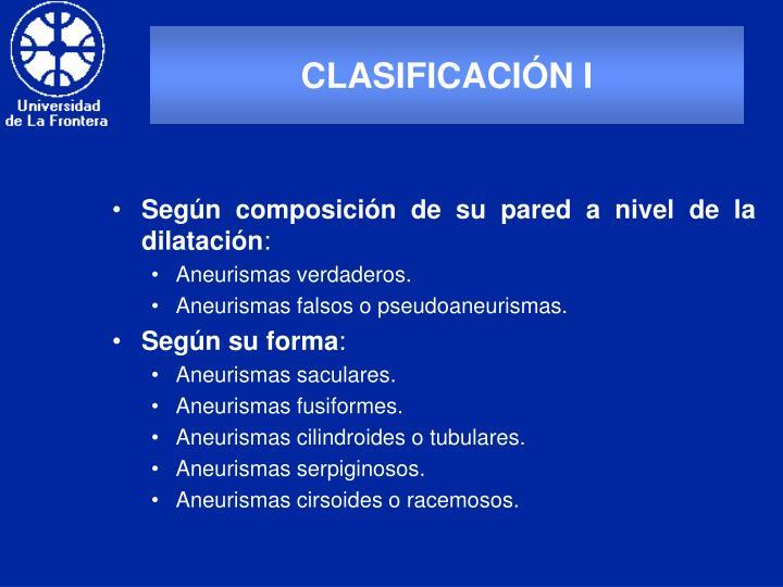CLASIFICACIÓN I