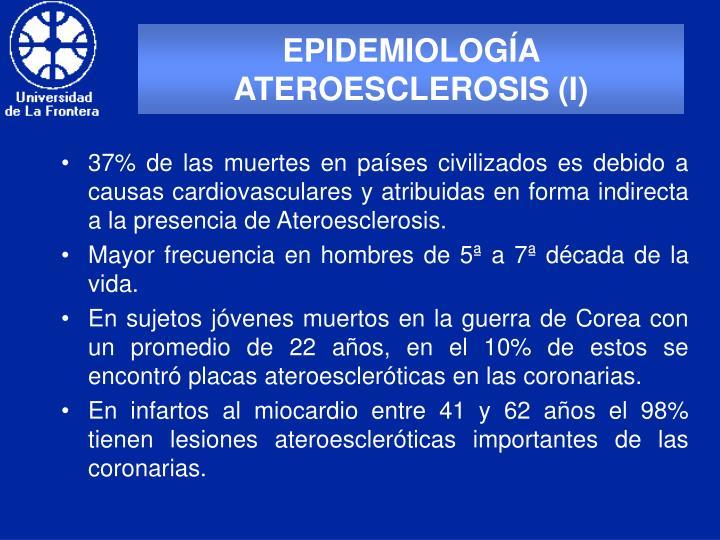 EPIDEMIOLOGÍA ATEROESCLEROSIS (I)