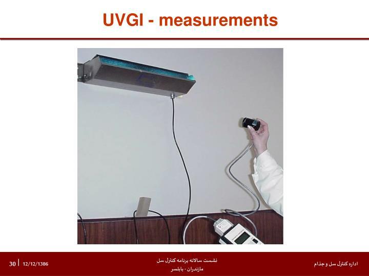 UVGI - measurements