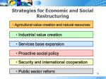 strategies for economic and social restructuring