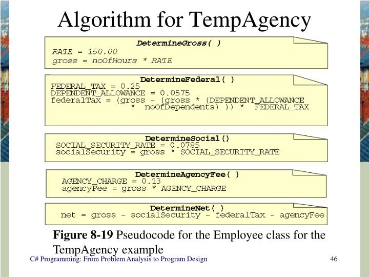 Algorithm for TempAgency