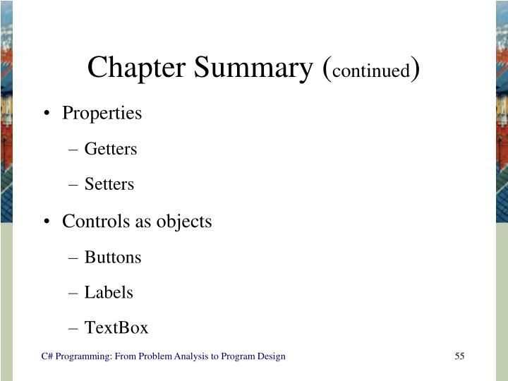 Chapter Summary (