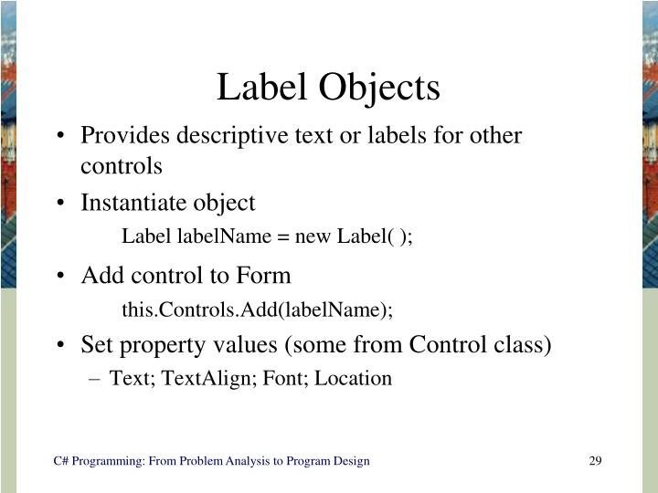 Label Objects