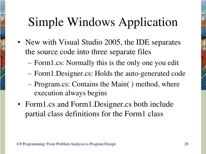 Simple Windows Application