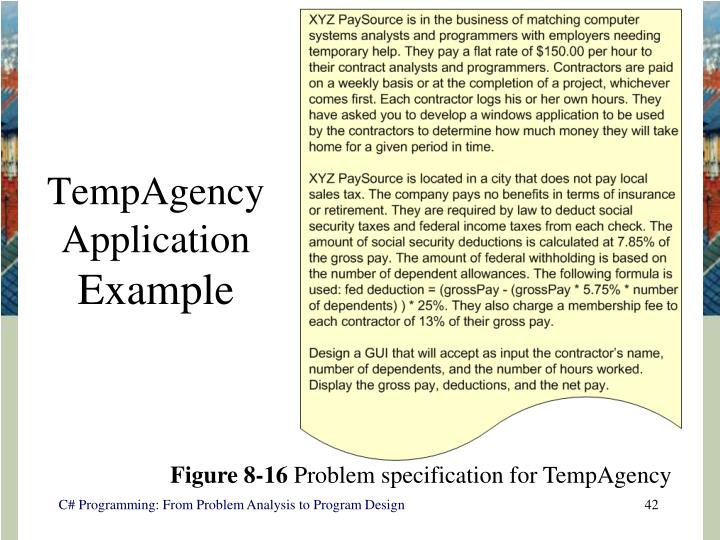TempAgency Application