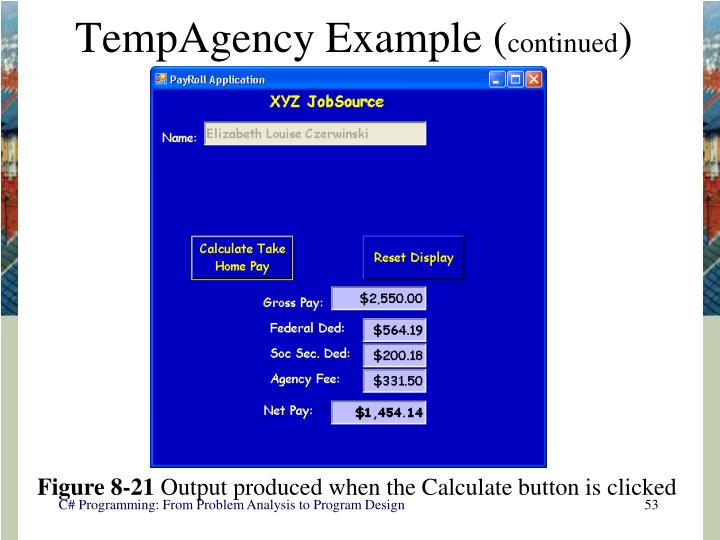 TempAgency Example (