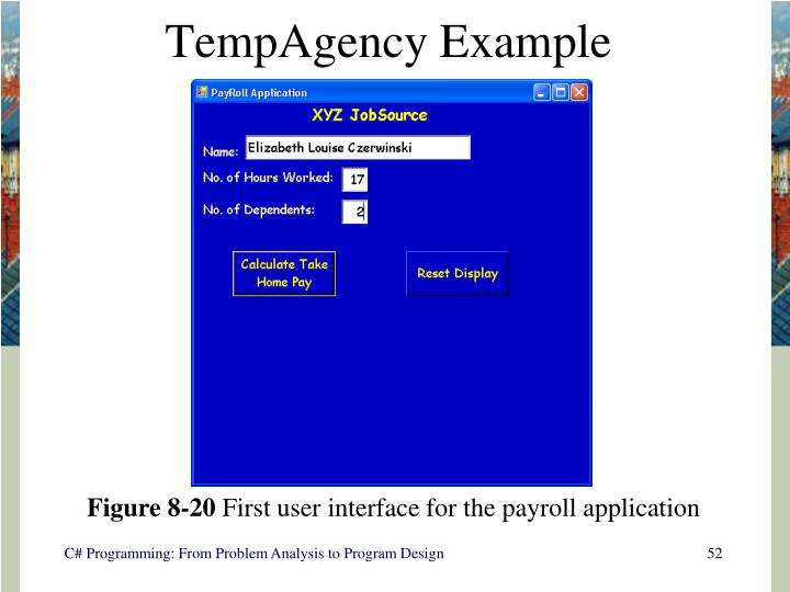 TempAgency Example