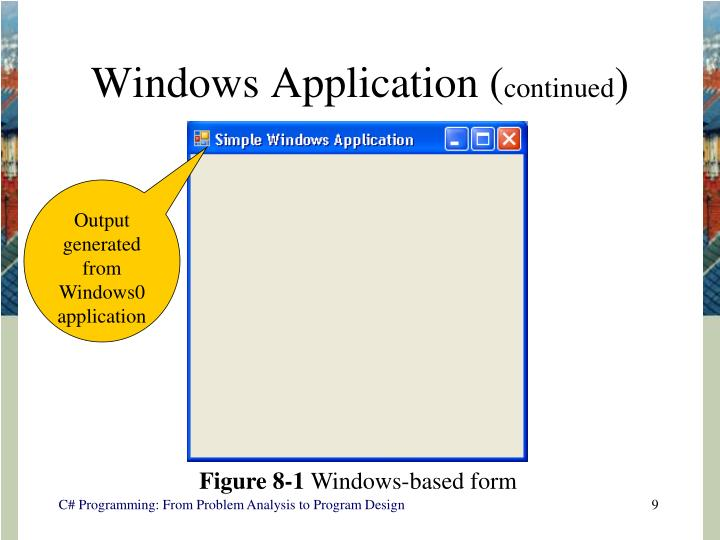 Windows Application (