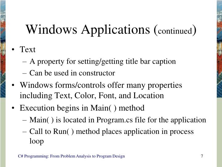 Windows Applications (