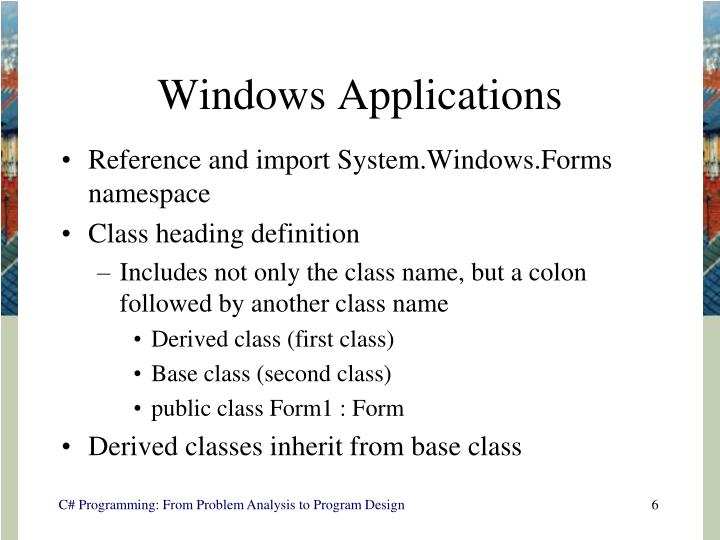 Windows Applications