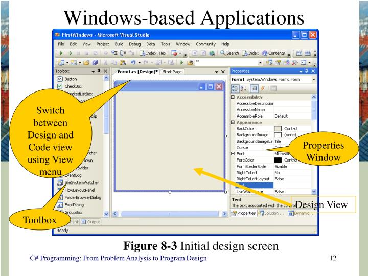 Windows-based Applications