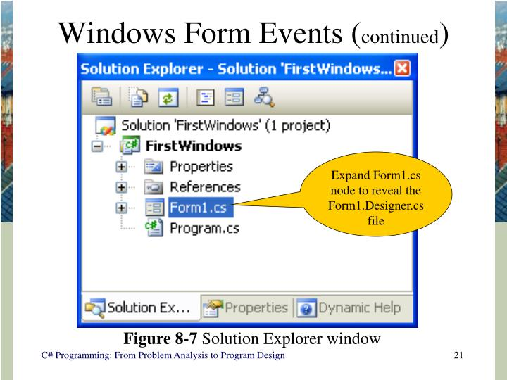 Windows Form Events (