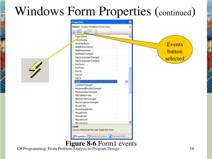 Windows Form Properties (