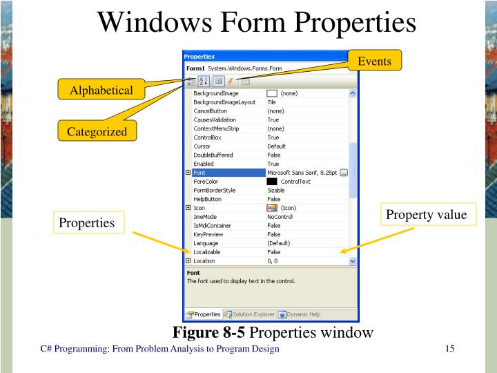Windows Form Properties