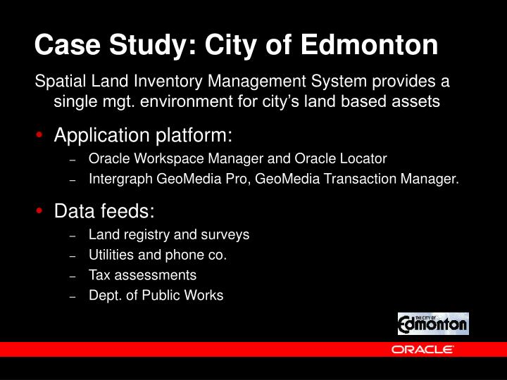 Case Study: City of Edmonton