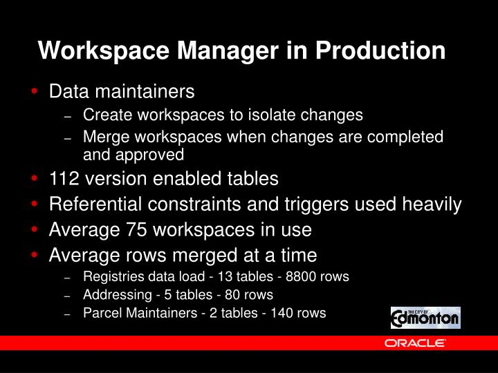 Workspace Manager in Production