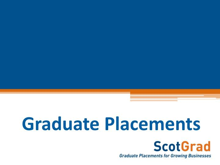 Graduate Placements