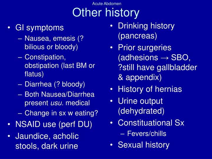 GI symptoms