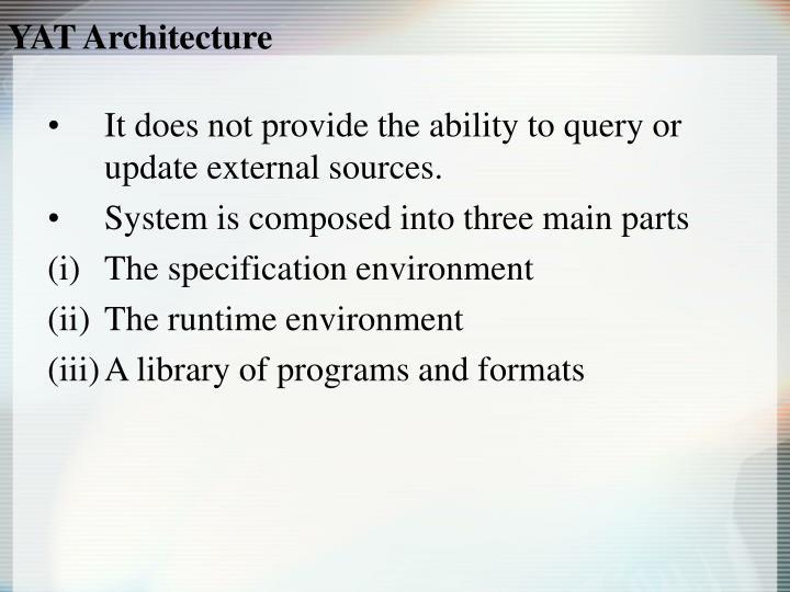 YAT Architecture