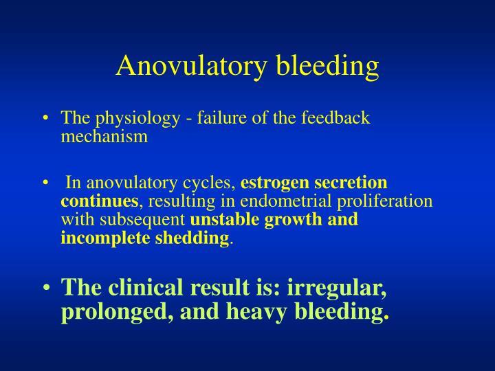 Anovulatory bleeding