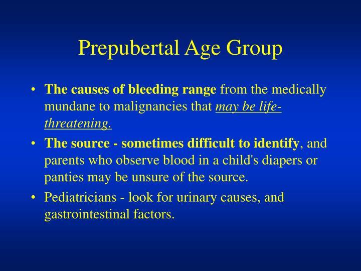 Prepubertal Age Group