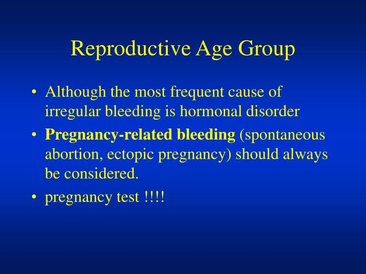 Reproductive Age Group