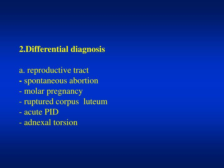 2.Differential diagnosis