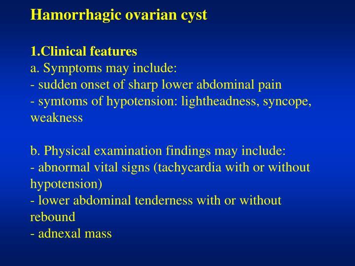 Hamorrhagic ovarian cyst