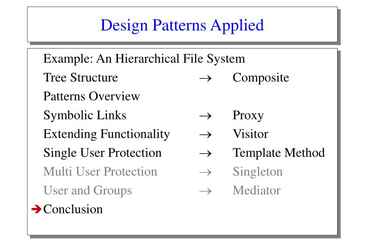 Design Patterns Applied