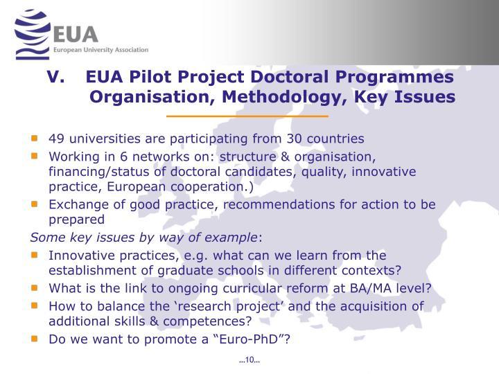 EUA Pilot Project Doctoral Programmes