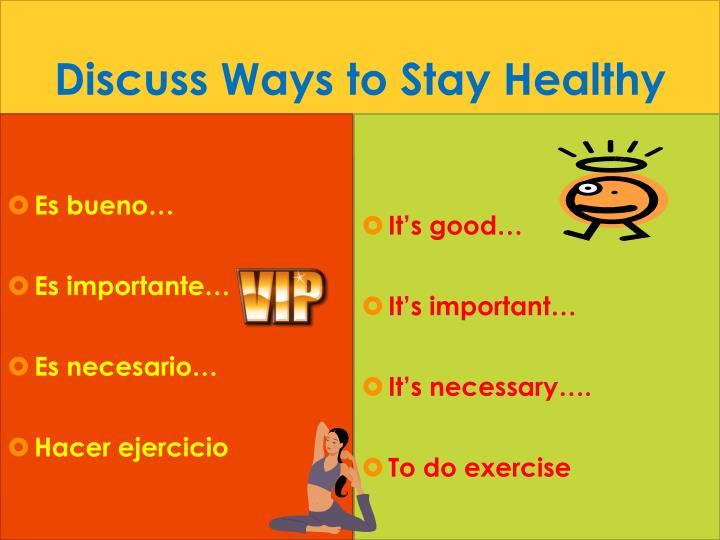 Discuss Ways to Stay Healthy