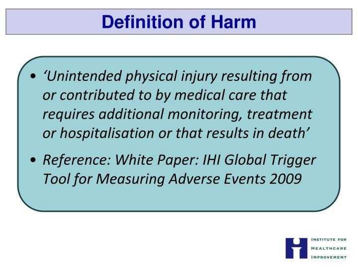 Definition of Harm