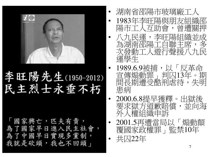 湖南省邵陽市玻璃廠工人