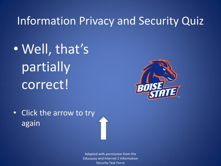 Information Privacy and Security Quiz