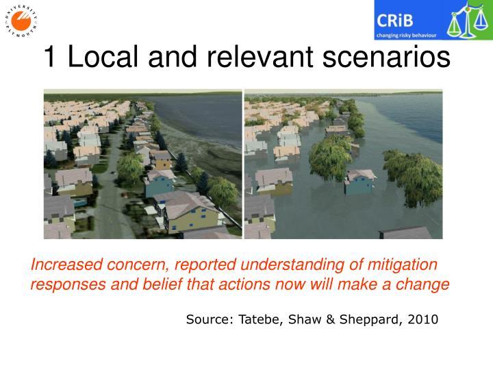 1 Local and relevant scenarios