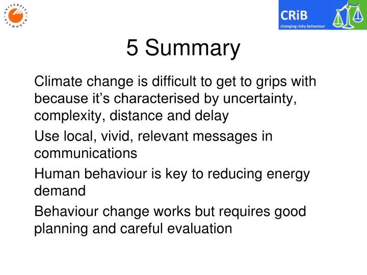 5 Summary