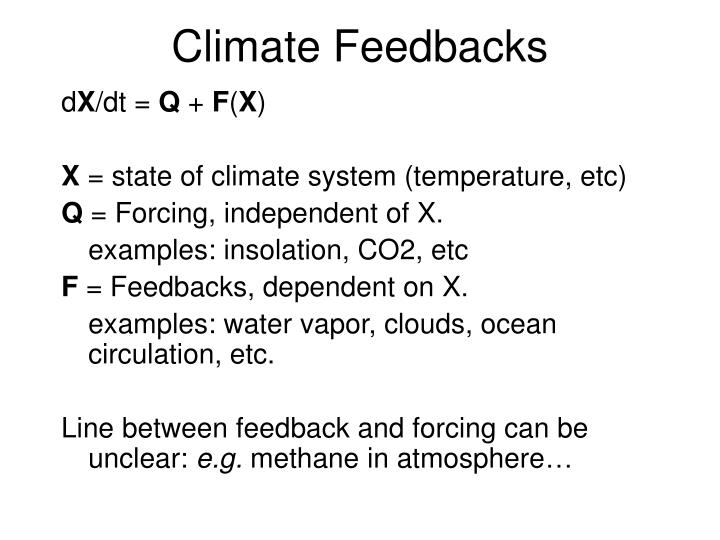 Climate Feedbacks