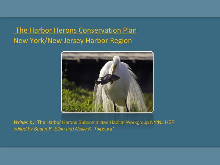 The Harbor Herons Conservation Plan